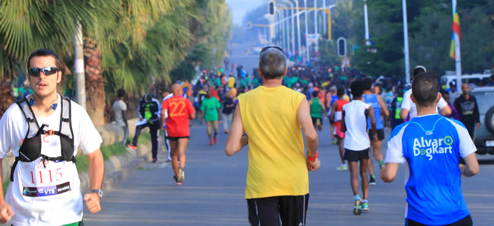 Running on Hawassa Roads